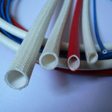 7000V high voltage silicone rubber cable sleeve(inside rubber outside fiber)