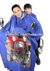 adult double hoods motorcycle one piece rain suit