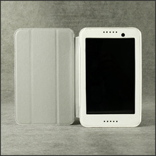 PU leather stand case for lenovo A3500 7 inch tablet-White