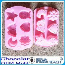 MFG Various shape silicone chocolate molds black latoya aka ferrari chocolate models