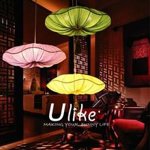 new design oval-shaped lantern texitile lamp lantern hanging lotus flower lanterns golden wedding party decoration