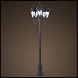 European high quality brass garden post light (SG7218-3-M)