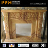 China high quality hand-craved statue carved marble fireplace mantel