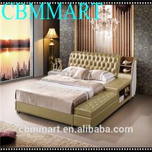 2014 hot-sale leather bed/ used bedroom furniture sets