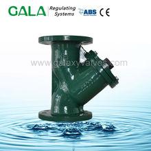 Ductile iron 150lb flanged y type strainer , simplex y strainer drain valve