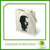 custom high quality eco canvas cotton school bag