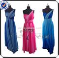 una spalla maxi abiti di chiffon rse206 gradiente di colore abiti da sera per le donne incinte