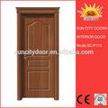 Popular projeto de peru meia lua de vidro da porta de madeira sc-p175