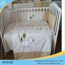 little puppy 100% cotton baby cot bedding set hot sale