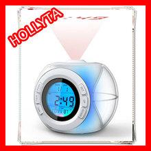 LED backlight projection talking alarm clock, projection alarm clock, alarm clock with projection