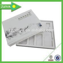 Packaging box custom foam box inserts / matte lamination / spot uv