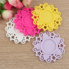 Newest Colorful Filligree Flower Stars Resin Setting,Base Setting Trays Fit 25mm Picture/Cameo/Cabochon