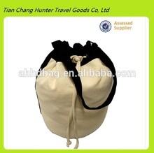 Durable New Design cotton canvas drawstring duffel bag for women