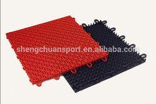 Portable ,Multi-purpose Anti-slip outdoor interlocking plastic floor tiles