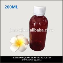 High Quality 200ml Plastic Brown Pill Medicine Bottles/Liquid Medicine Bottles/Capsule Bottle for Veterinary