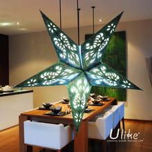 2014 new design hanging paper star lights hanging star light indoor star light wholesale decor wedding