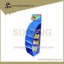 4 way gondola baby shoe cardboard power wing display shelf stand
