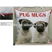 cute cushion covers dog designs,dog cushion pillows,designer handmade cushion covers