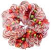 21 inch orange color plastic decoraiton material China floral mesh wrap