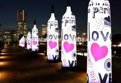 2014 Most popular custom shape inflatable light pillar for advertising