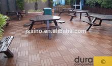 Interlocking waterproof composite deck tile, WPC interlocking solar decking tiles for patios, terraces, roof gardens