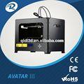 3d imprimantes, numériques machine d'impression de tissu, abs& pla 3d imprimante