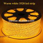 Waterproof 5meter/roll 4.8w warm white led strip/ Flexible led tape