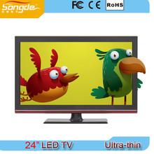 special design black cabinet super slim 24'' led tv,23.6 inch led tv
