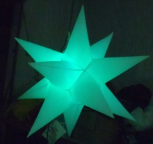 2014 Factory Outlet custome hanging inflatable star for party decoration
