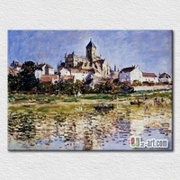 Western country natural scenery oil painting on canvas for home decoration