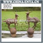Iron Casting Garden Paired Deer