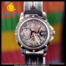 latest design fashion luxury genuine leather automatic mechanical men watch(WJ-1388)