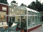 Aluminium lowes sunrooms curved glass sunroom