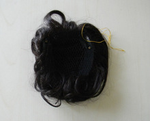 high quality 5a grade natural looking fish net Indian human hair piece with clips