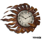 sun shaped metal clock for home decoration