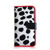 Factory custom wallet phone case for iphone 5c with mirror & stand