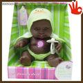 2014 mais novo plástico bonecas negras nu boneca boneca de borracha ternos 8.5 polegada