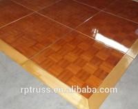 Hot sell teak wood oak dance flooring for wedding event