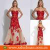 Trendy Off Shoulder Appliqued Shiny Red Sequins Mermaid Patterns Evening Dresses