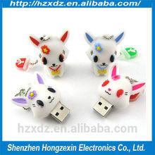 High quality usb flash stick 16GB Silicone,flash drive 16 gb rabbit