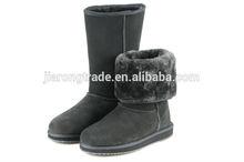 2014 New Brand Female Australia Lady Fashion Keep Warm Sheepskin Wool Winter Shoes Design Women's Luxury boy gray Snow Boots