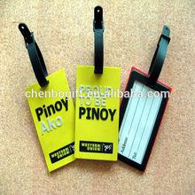 european standard quality 3d plastic pvc luggage tag promotion bag tag/id name tag