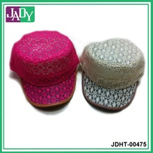 Lace covered army cap hat wholesale