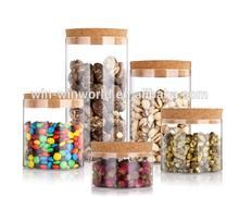 Cork Top Moisture Resistant Table Glass Herb Storage Jars Wholesale