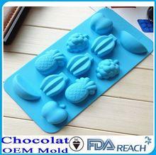 mfg varios forma de silicona de chocolate moldes de hielo moldes de la escultura