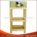 5- nivel del salón de pelo de madera carro económico carrito de uñas