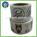 Ventas al por mayor del cliente de impresión de la etiqueta de tamaño pegatinas, adhesivo troquelado de alta calidad de etiqueta