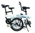 bicicleta plegable en tándem