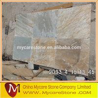 Rustic brown color slate floor tiles