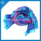 Fashion Accessory China supplier Acrylic pashmina viscose shawls wholesale woven cotton scarves